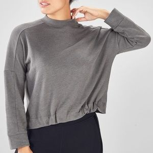 NWT Fabletics Selena Terry High Low Pullover L